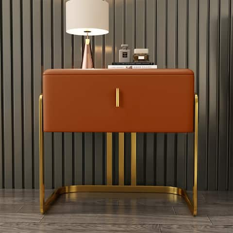 leather night stands for bedrooms with big drawer