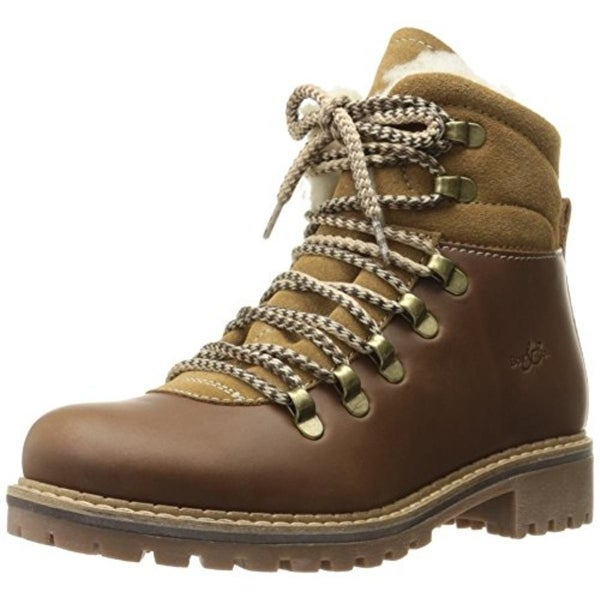 Bos. & Co. Womens Snow Boots Leather Ankle