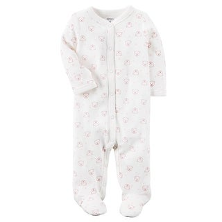 Carter's Baby Girls' Cotton Snap-Up Sleep & Play, 9 Months