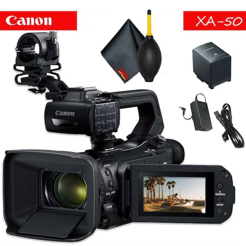 Canon XA50 Professional UHD 4K Camcorder with Accessory Bundle
