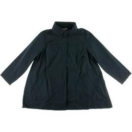 Eileen Fisher Womens Plus Hidden Hood Long Sleeves Jacket - 1X