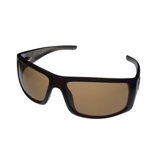 Timberland Mens Rectangle Shiny Brown Plastic Sunglass TB7125 48E - Medium