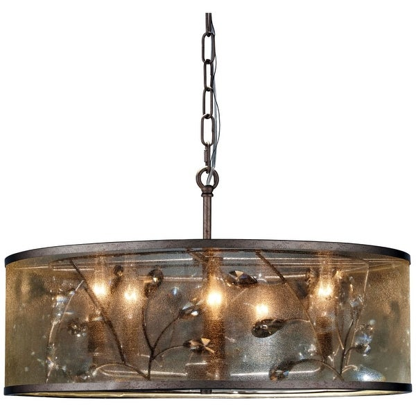 Minka Lavery 4435-252 5 Light Pendant from the Sara's Jewel Collection - nanti champagne silver