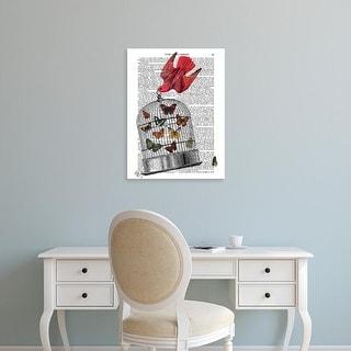 Easy Art Prints Fab Funky's 'Flying Birdcage' Premium Canvas Art