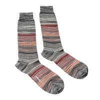 Missoni GM00CMU5439 0005 Gray/Red Knee Length Socks - Grey