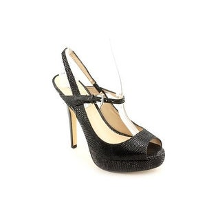 INC International Concepts Mariela Peep Toe Leather Platform Heel