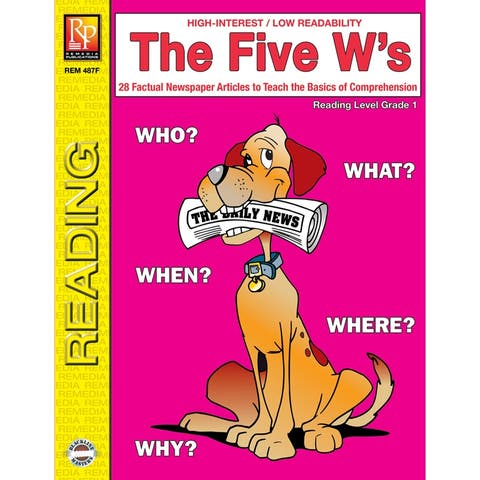 The 5 Ws 1St Gr Reading Level