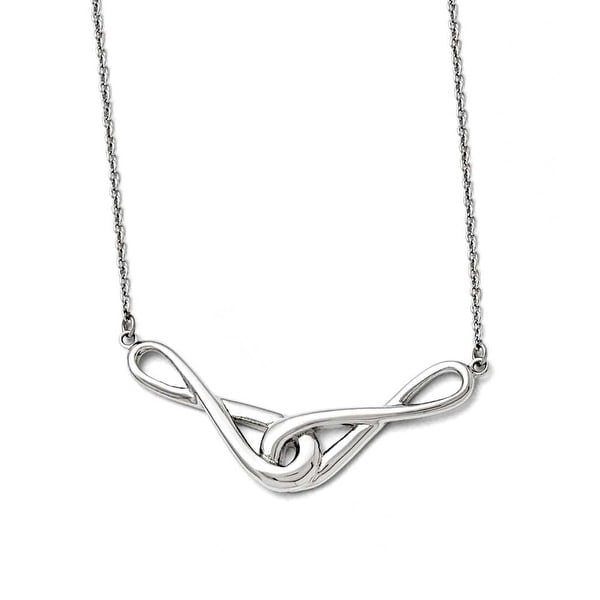 Chisel Stainless Steel Polished Infinity Symbols Necklace - 19 in