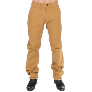 GF Ferre Yellow Cotton Straight Fit Chinos - it50-l