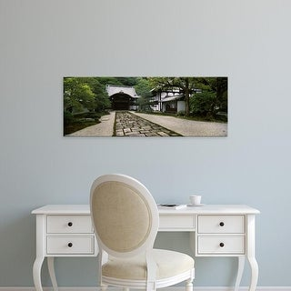 Easy Art Prints Panoramic Image 'Footpath, Nanzenji Temple, Kyoto Prefecture, Kinki Region, Honshu, Japan' Canvas Art