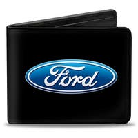 Ford Oval Logo Centered Bi Fold Wallet - One Size Fits most