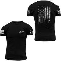 Grunt Style 1776 Flag Crewneck T-Shirt - Black