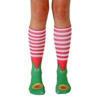 Unisex Elf Shoes Knee High Socks - Green