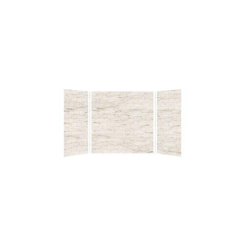"Transolid SaraMar 36-In X 60-In X 60-In Glue to Wall 3-Piece Tub Walls - 60"" x 36"" x 60"""