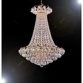 Swarovski Crystal Trimmed French Empire Chandelier Lighting With 14 Lights