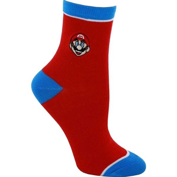 Super Mario Embroidered Junior Anklet Socks
