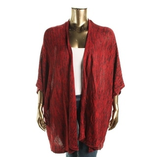 NY Collection Womens Plus Knit Space Dyed Poncho Sweater - 2X
