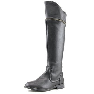 DV8 by Dolce Vita Gilmore Round Toe Leather Knee High Boot