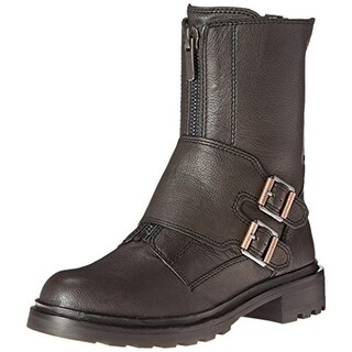 Calvin Klein Jeans Womens Suzetta Motorcycle Boots Leather Monk Strap