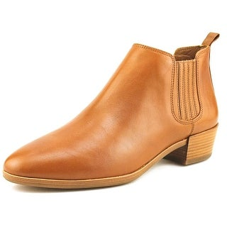 Michael Michael Kors Shaw Flat Bootie   Round Toe Leather  Bootie