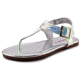 Kensie Girl T-Strap Sandal Youth Open Toe Synthetic Thong Sandal