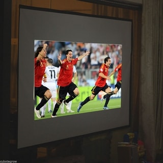 Portable 120 inch Projector Screen Material 16:9 for Meeting Home Theater Movies