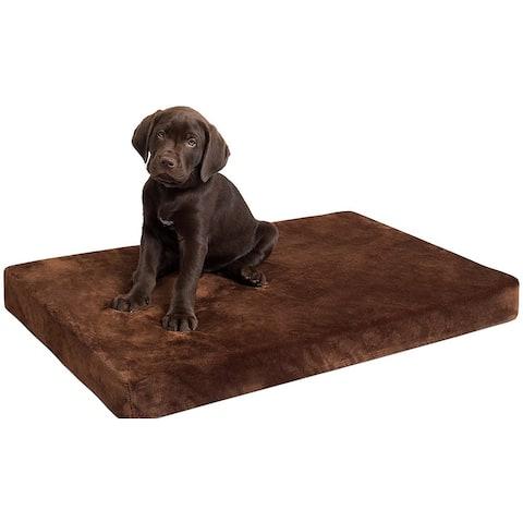 "BIRDROCK HOME Memory 3"" Memory Dog Bed - Ultra Soft Plush Pet Bed - Pet Mat"