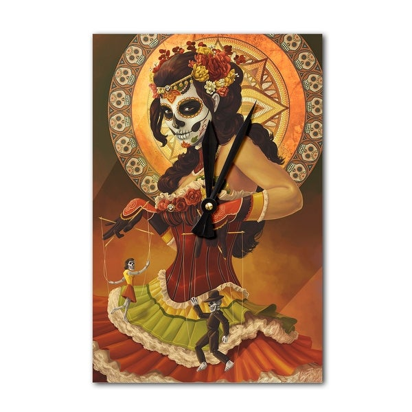 Marionettes - Day of the Dead - LP Artwork (Acrylic Wall Clock) - acrylic wall clock