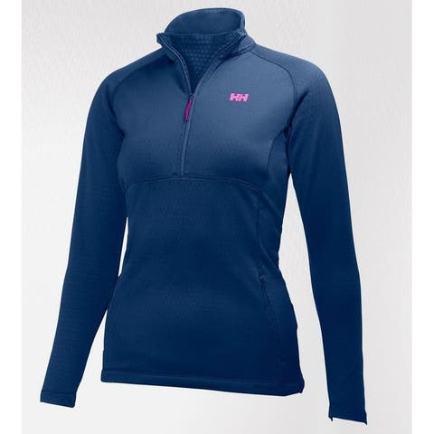 Helly Hansen Women's Vertex Stretch Midlayer Fleece Jacket, Blue/Black XS-L
