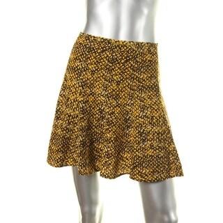 MICHAEL Michael Kors Womens Printed Seamed Flare Skirt - 8