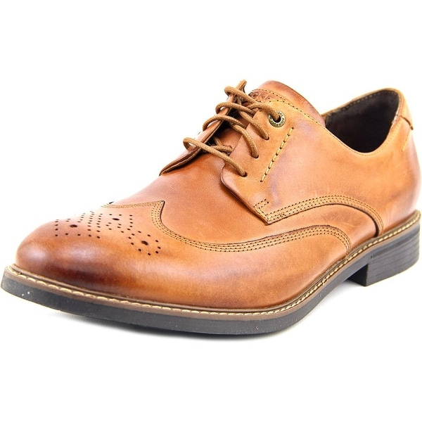 Rockport Wing Tip   Round Toe Leather  Oxford