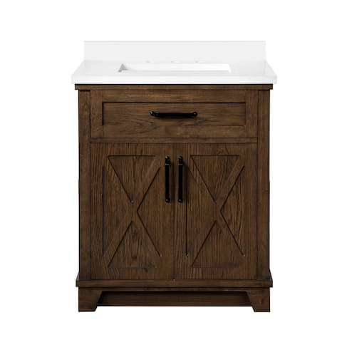 OVE Decors Ollie 30 in. Single Sink Bathroom Vanity Antique Coffee