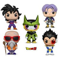 Funko Pop! Animation Dragon Ball Z - Perfect Cell, Vegeta, Trunks, Gohan (Training Outfit) and Master Roshi W/ Staff (5 Items)