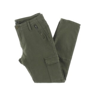 Aqua Womens Cargo Pants Twill Mid-Rise