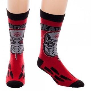 Suicide Squad Deadshot Men's Crew Socks - Red