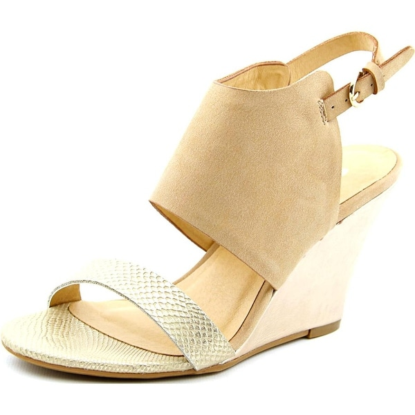 CL By Laundry Baja Women Open Toe Synthetic Gold Sandals
