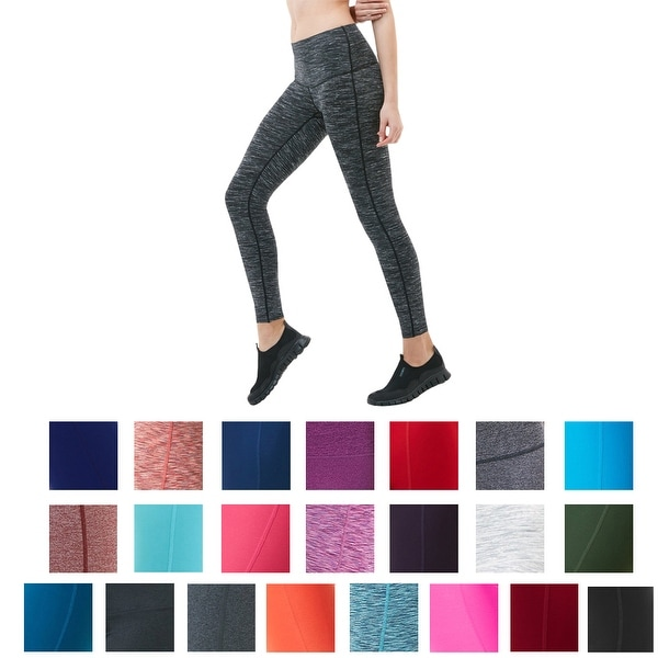 7f77df17e3a6f Shop Tesla FYP42 Women's High-Waisted Ultra-Stretch Tummy Control Yoga Pants  - Free Shipping On Orders Over $45 - Overstock - 18119925