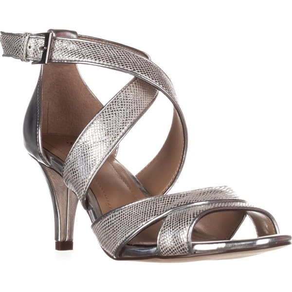 SC35 Pravati Sparkle Strappy Dress Sandals, Silver - 7 us