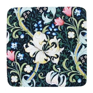 """Pack of 8 Absorbent Midnight Blue Abstract Floral Print Cocktail Drink Coasters 4"""""""