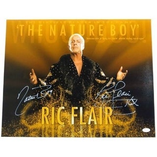 Nature Boy Ric Flair WWE Signed 16x20 Dirtiest Player Photo Inscr. 16x JSA