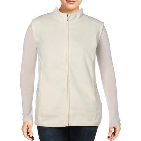 Karen Scott Sports Womens Plus Zeroproof Outerwear Vest Fall/Winter Fleece