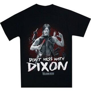 The Walking Dead Don't Mess With Dixon Men's Black T-Shirt