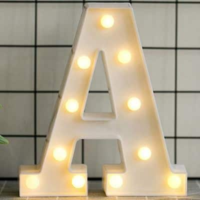 Luminous LED Letter Night Light English Alphabet Number Lamp Wedding Party Decoration Christmas Home Decoration AccessoriesA