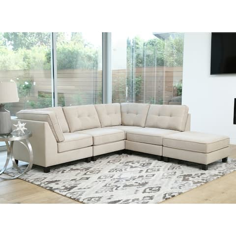 Abbyson Maddox 5 Piece Modular Fabric Sectional