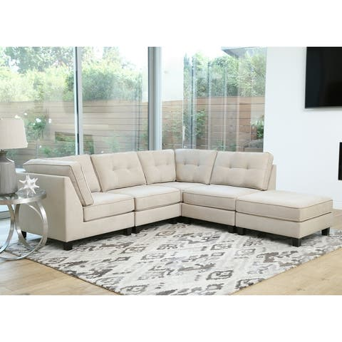 Abbyson Maddox 5-piece Modular Fabric Sectional