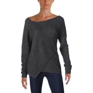 Free People Womens Sweater Asymmetrical Slub