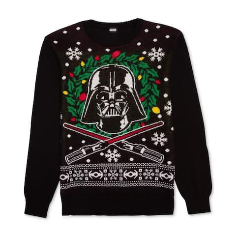 Star Wars Mens Vadar Lights Pullover Sweater