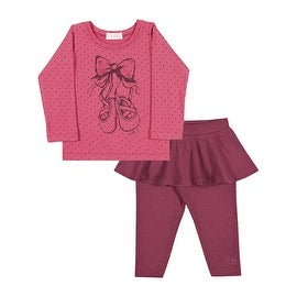 Baby Girl Outfit Long Sleeve Shirt and Skirted Leggings Pulla Bulla 3-12 Months