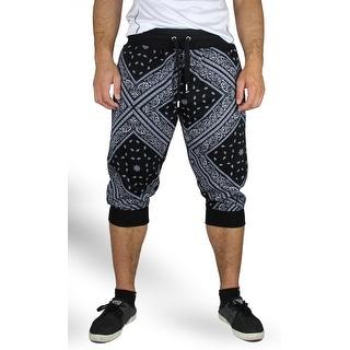 Bandana Print Jogger Crop Pants (Option: L)