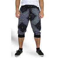 Bandana Print Jogger Crop Pants